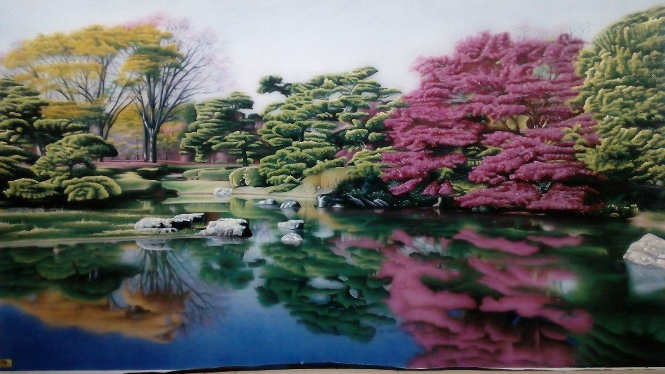 Gemstone painting - Vietnamese landscape speacial