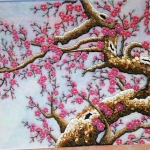 Gemstone painting - peach blossom 4