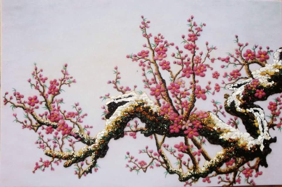 Gemstone painting - peach blossom 6