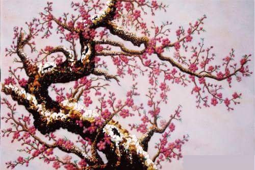 Gemstone painting - peach blossom 7