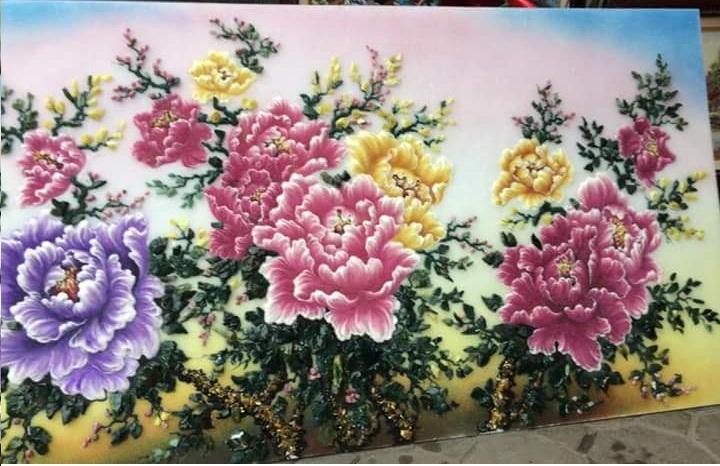 Gemstone painting - peony 10