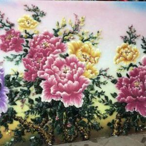 Gemstone painting - peony 4