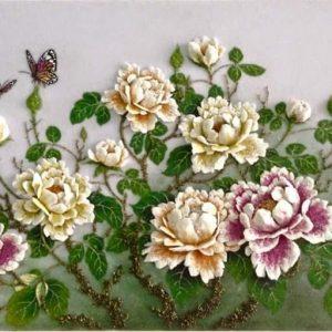 Gemstone painting - peony 6