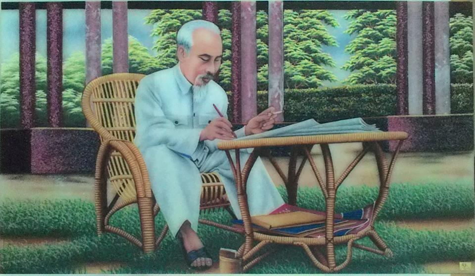 Gemstone painting - portraits Ho Chi Minh
