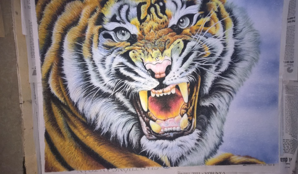 Gemstone painting tiger 7