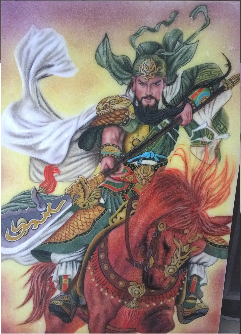 Gemstone painting Guan Yu Warrior 1