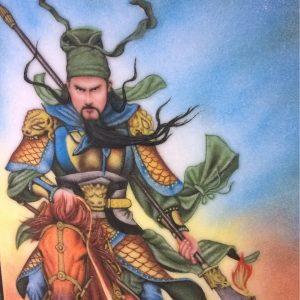 Gemstone painting Guan Yu Warrior 2