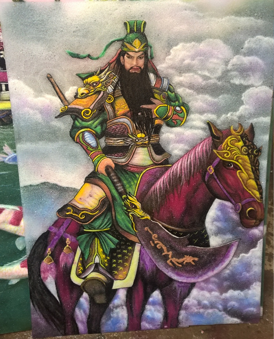 Gemstone painting Guan Yu Warrior 3