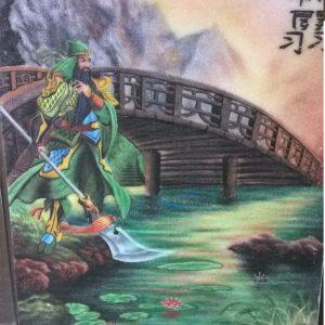 Gemstone painting Guan Yu Warrior