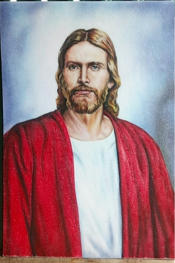 gemstone painting-Jesus Christ