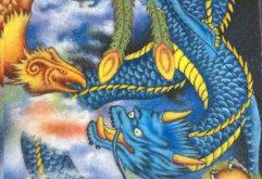 Gemstone painting dragon and phoenix 1