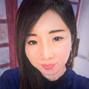Gemstone painting lady