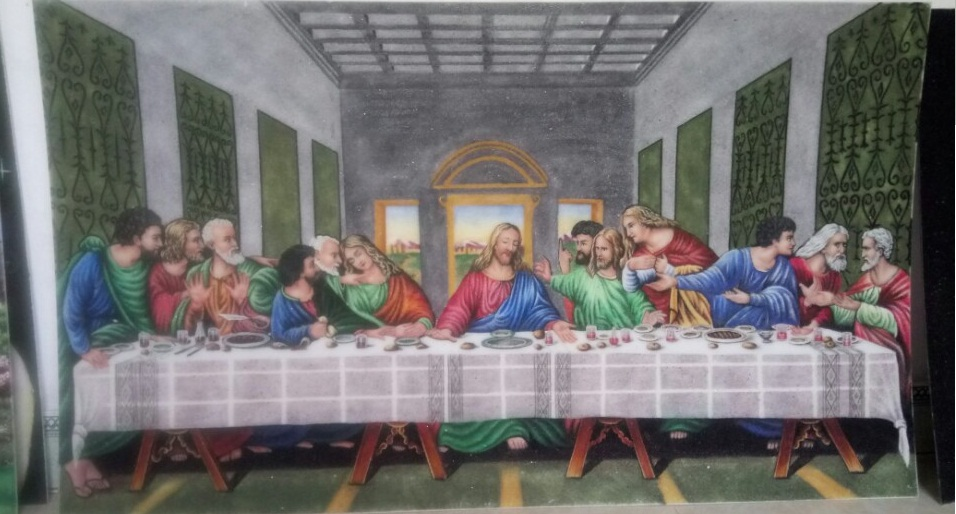 Gemstone painting The Last Supper 1