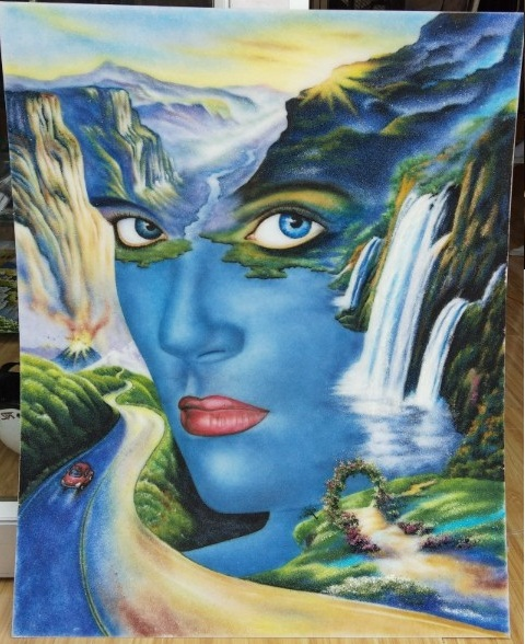 Gemstone painting Women's  face