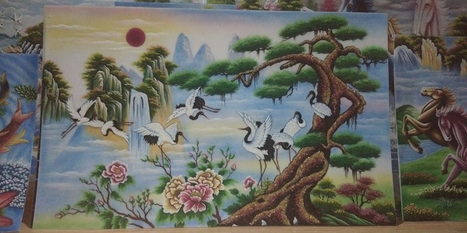 Gemstone painting vietnam